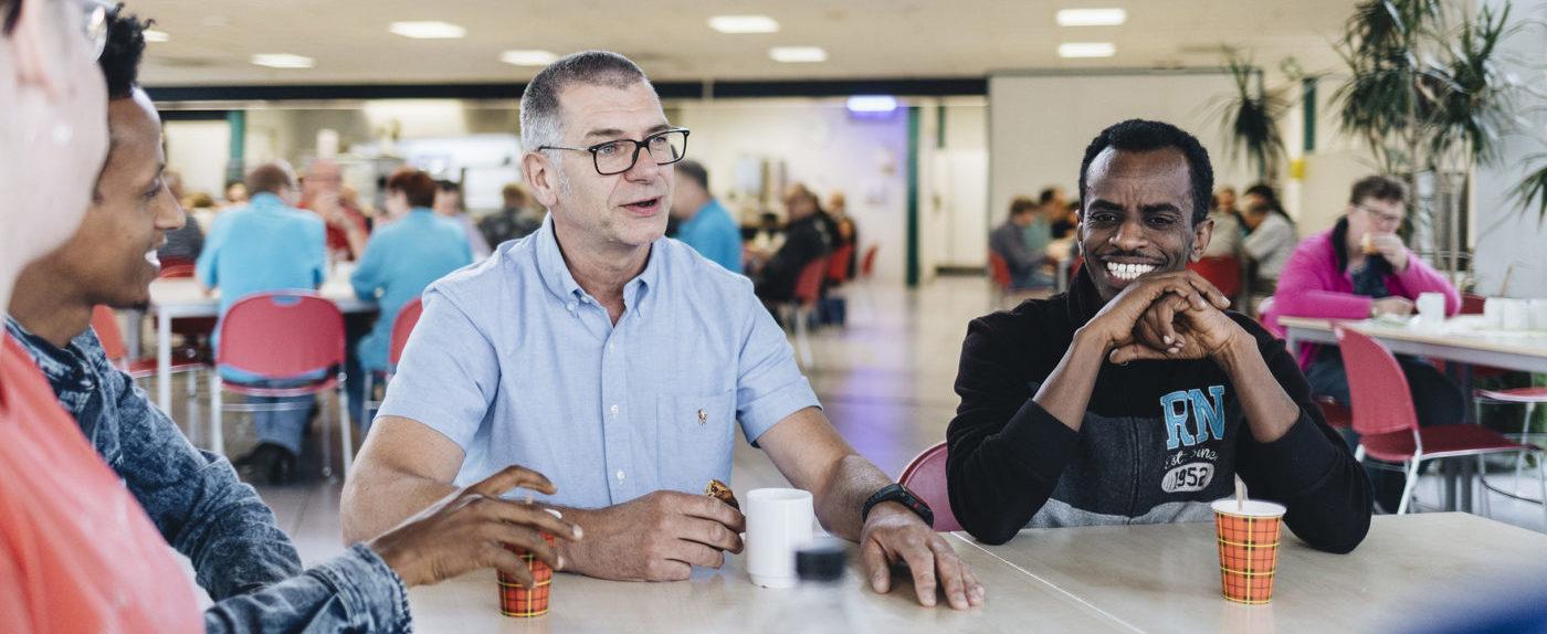 René Marissen in gesprek met statushouders